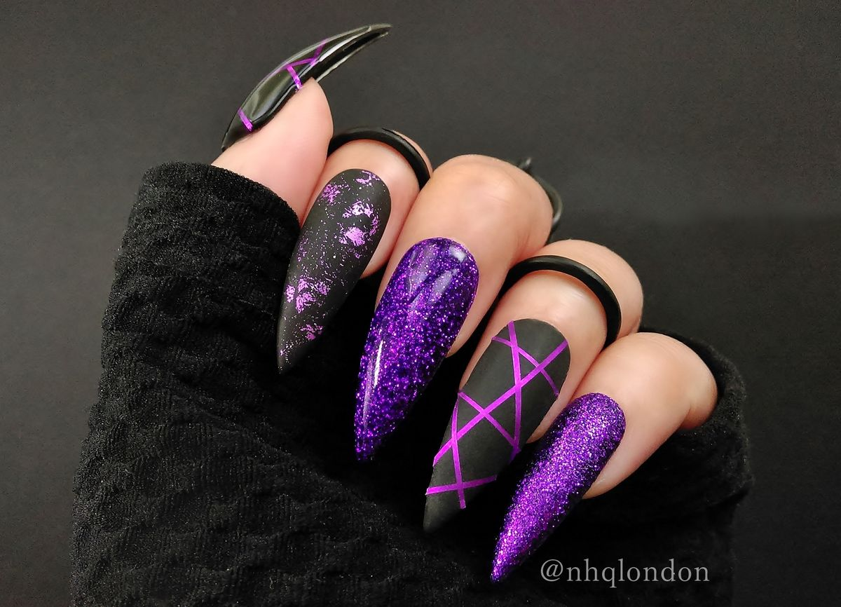 Purple Stiletto Nails Ombre Wwwtopsimagescom