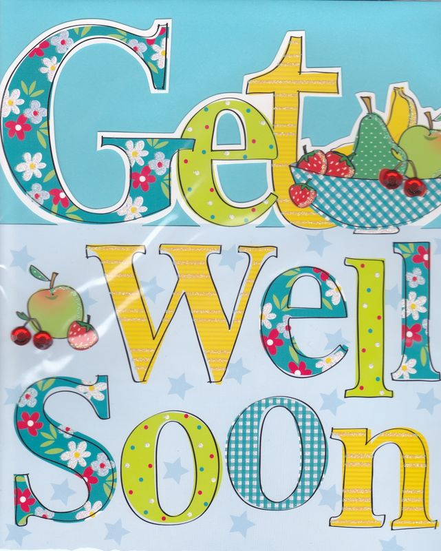 Hand Finished Get Well Soon Card - Large, Luxury Card - Karenza Paperie - get well soon card