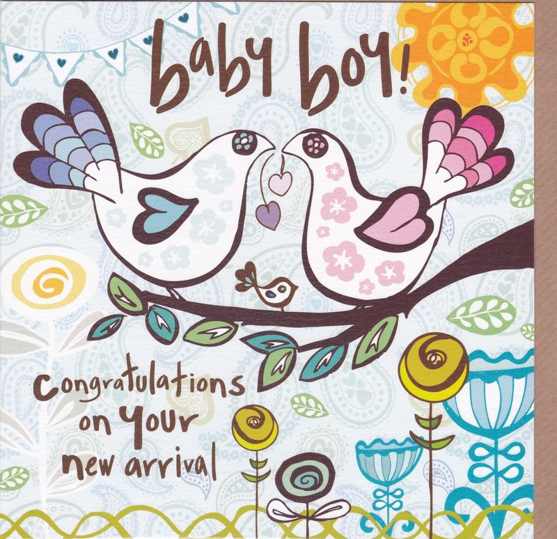 Congratulations On Your New Arrival - Baby Boy Card - Karenza Paperie
