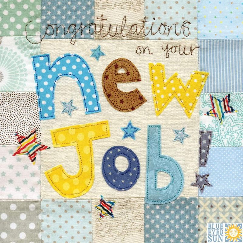 Congratulations On Your New Job Card - Large, luxury card - Karenza