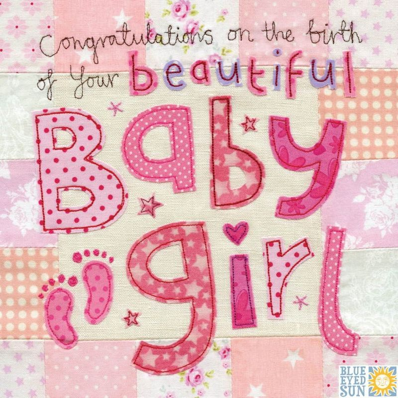 Congratulations on the birth of your beautiful Baby Girl Card - Birth Of Baby Girl