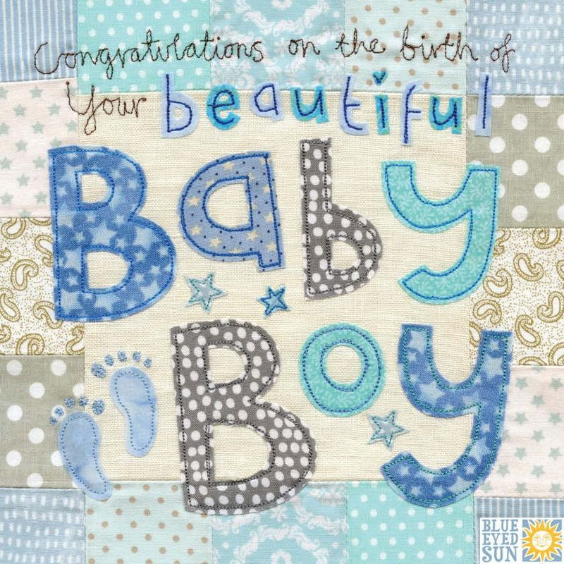 Congratulations on the birth of your beautiful Baby Boy Card - Large - congratulation for the baby boy