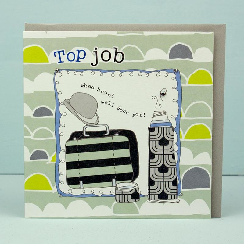 Top Job Congratulations Card - Karenza Paperie