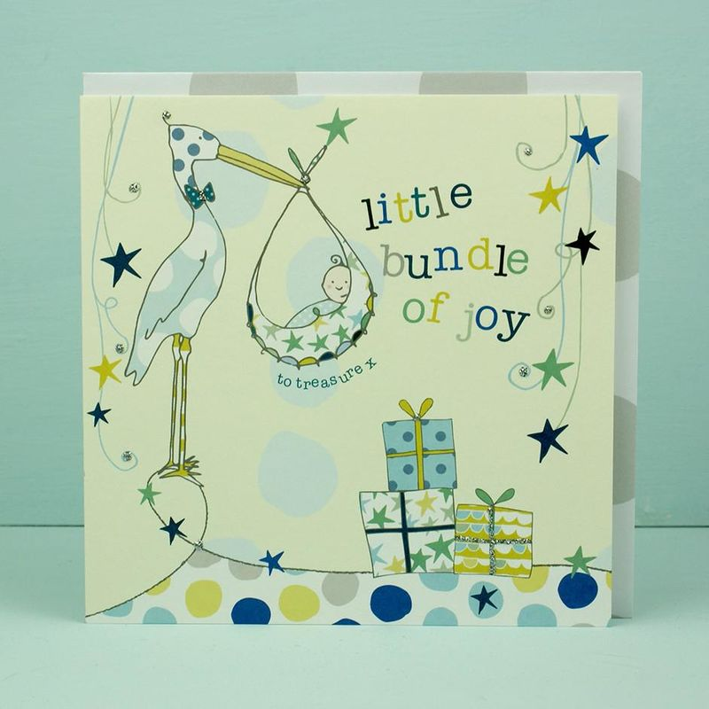 Little Bundle of Joy New Baby Boy Card - Karenza Paperie