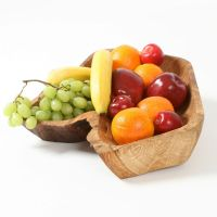 Rustic English Oak Fruit Bowl - WeirdWood