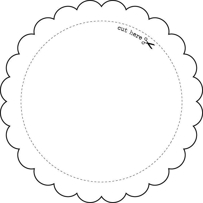 Templates - Round Frame - EXPRESS YOURSELF DIY