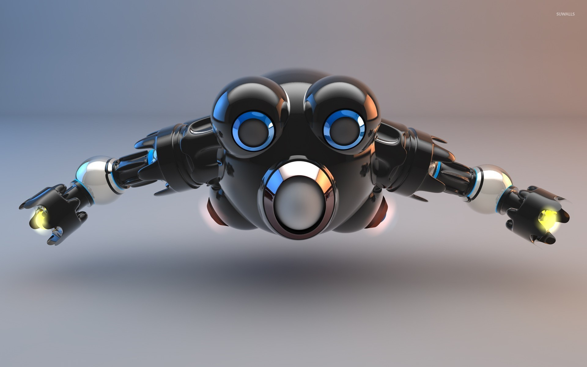 Cool 3d Wallpapers For Walls Flying Robot Wallpaper 3d Wallpapers 24259