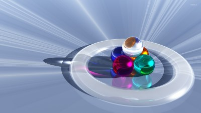 Glass spheres in a ring wallpaper - 3D wallpapers - #22772