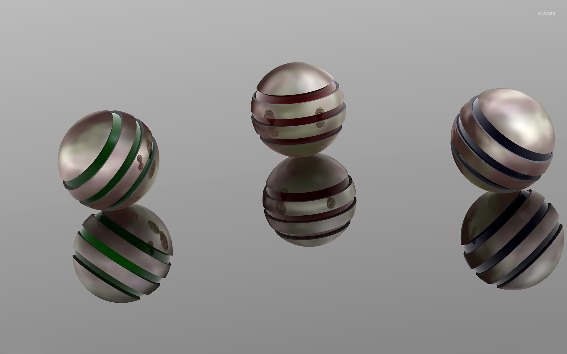 3d Cube Desktop Wallpaper Metal Spheres Wallpaper 3d Wallpapers 17283