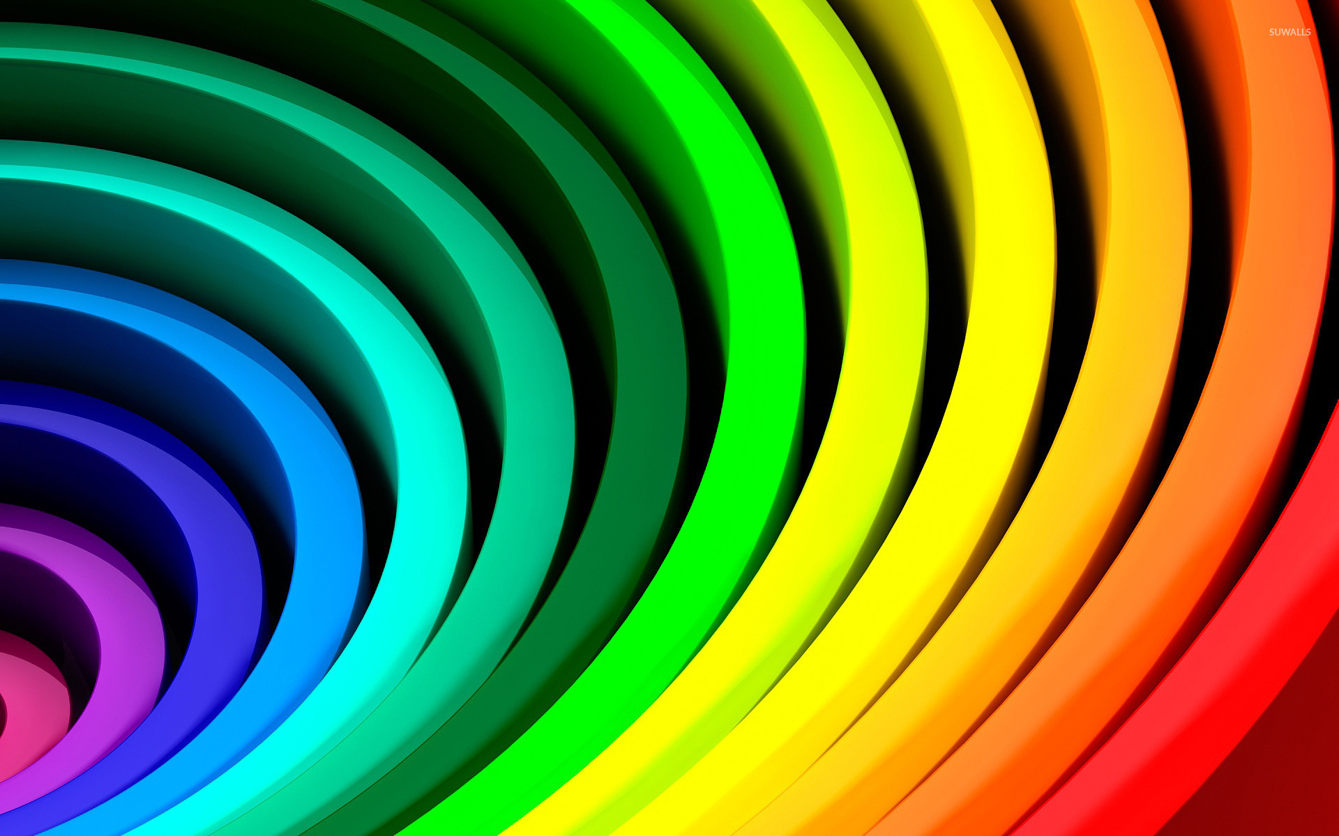 Memes Wallpaper 3d Rainbow Rings Wallpaper 3d Wallpapers 22860