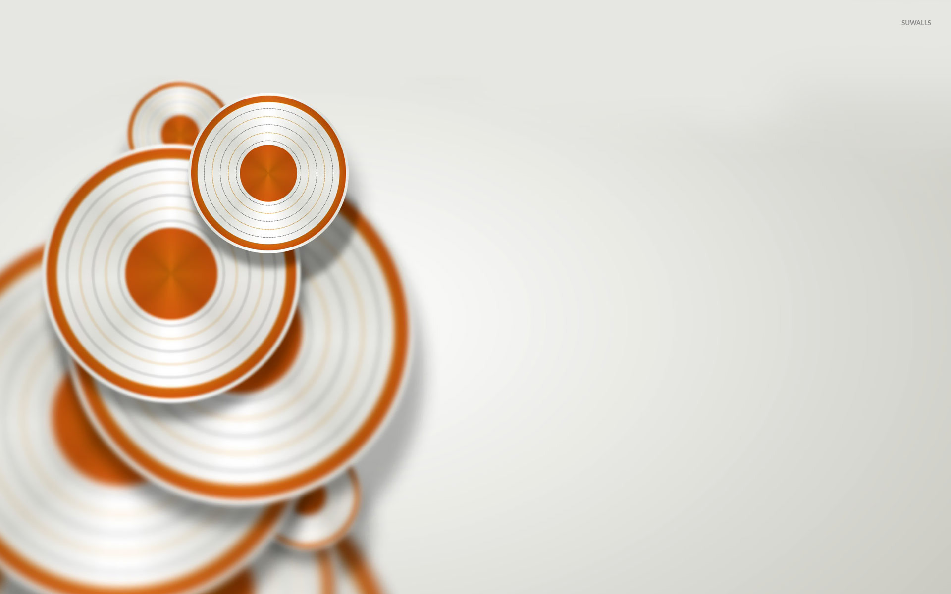 White Wave 3d Wallpaper White And Orange Discs Wallpaper 3d Wallpapers 19304