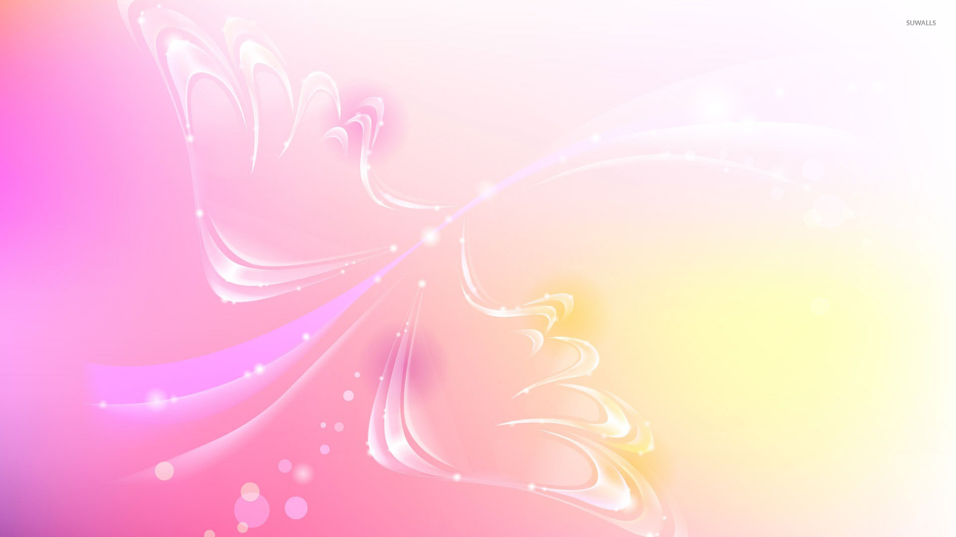 Valentine Day Hd Wallpaper With Quotes Pink Sparkling Wings Wallpaper Abstract Wallpapers 18820