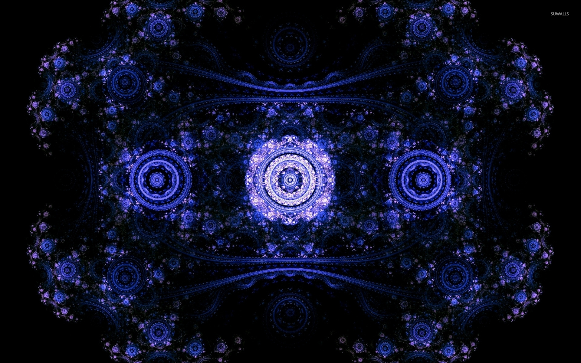 3d Geometric Wallpaper For Walls Purple Fractal Wallpaper Abstract Wallpapers 45719