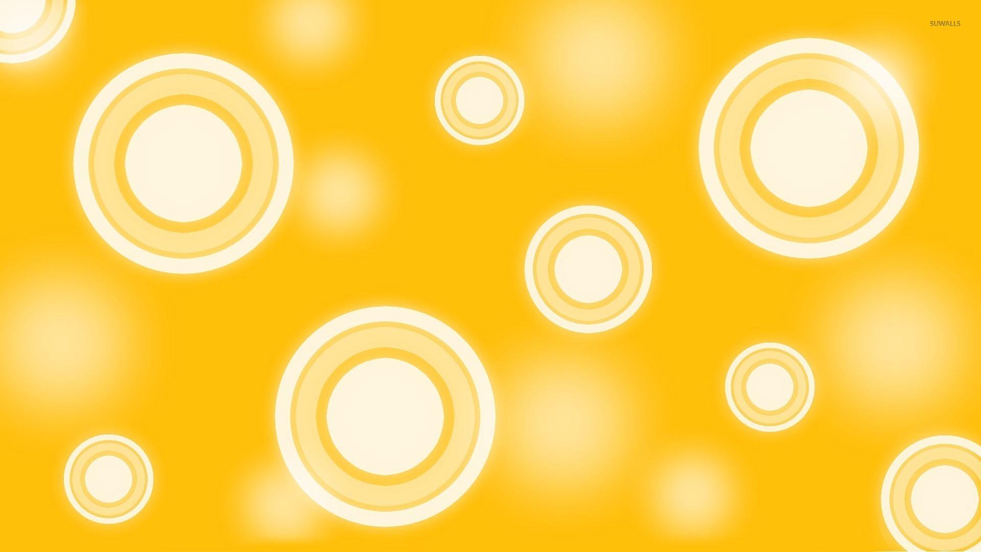 3d Cube Live Wallpaper Download Retro Yellow Circles Wallpaper Abstract Wallpapers 20563