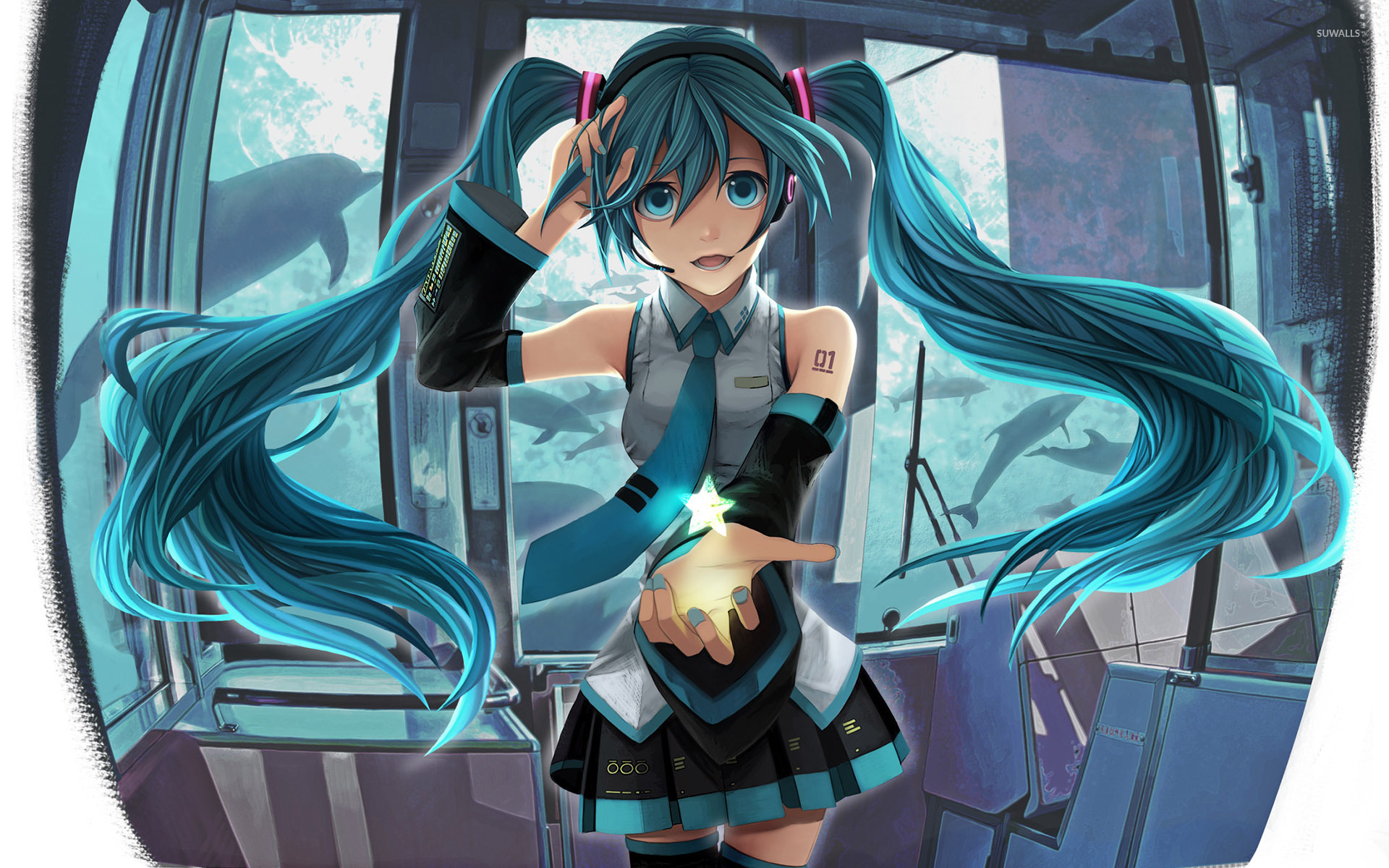 Real Hd Wallpapers 1080p Hatsune Miku Vocaloid 13 Wallpaper Anime Wallpapers
