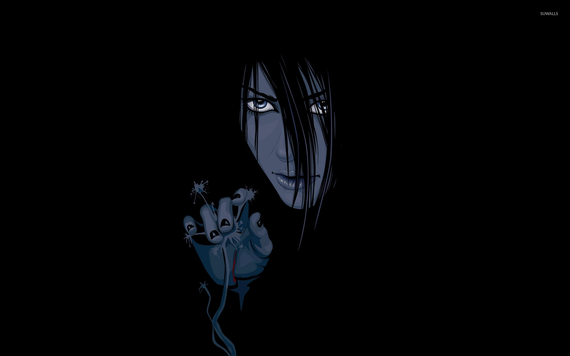 Black And White Gothic Wallpaper Orochimaru Appearingfrom The Darkness Naruto Wallpaper