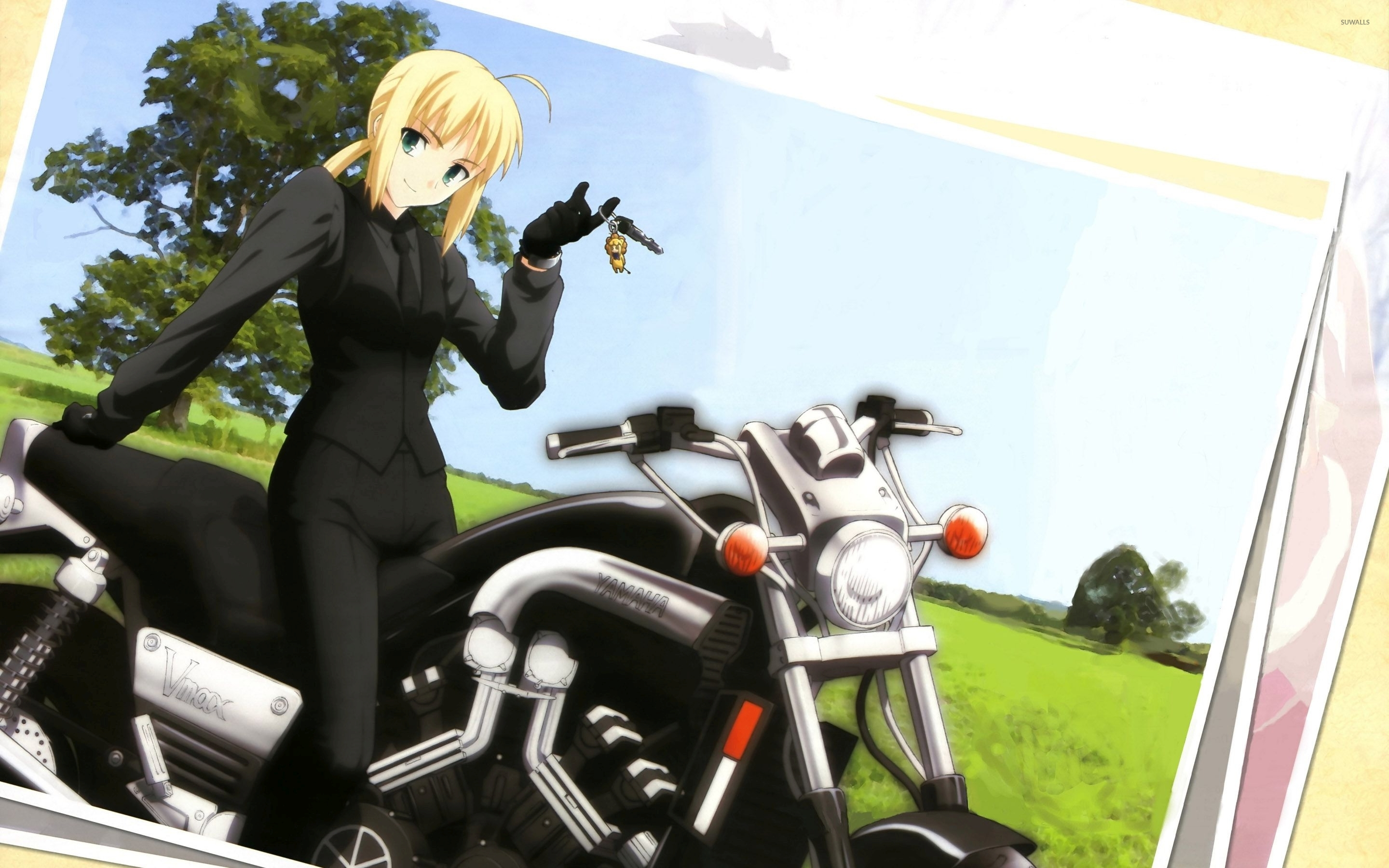 Fate Zero Wallpaper Hd Saber On A Bike Fate Zero Wallpaper Anime Wallpapers