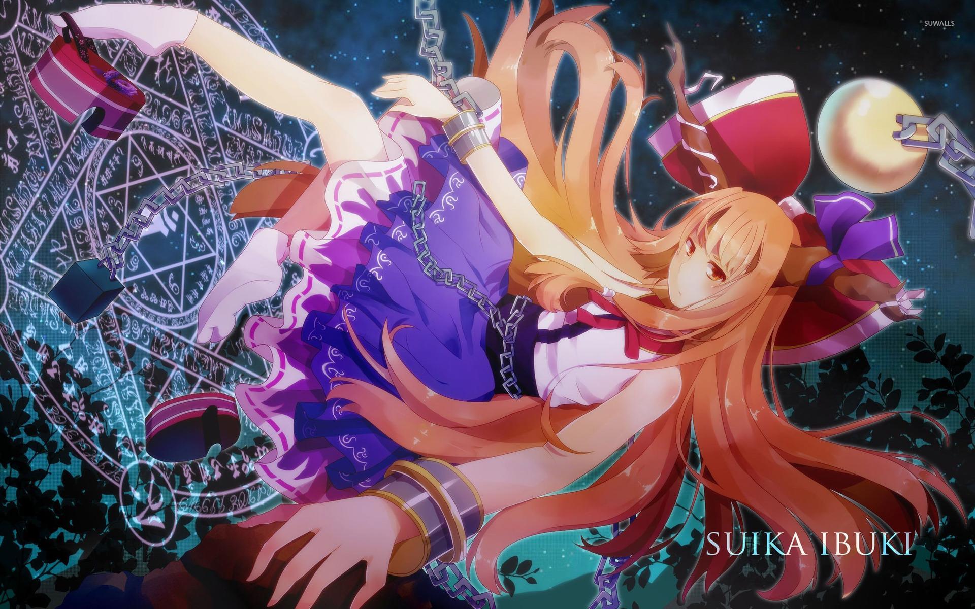 Kitsune Anime Girl Wallpaper Suika Ibuki Touhou Project 2 Wallpaper Anime
