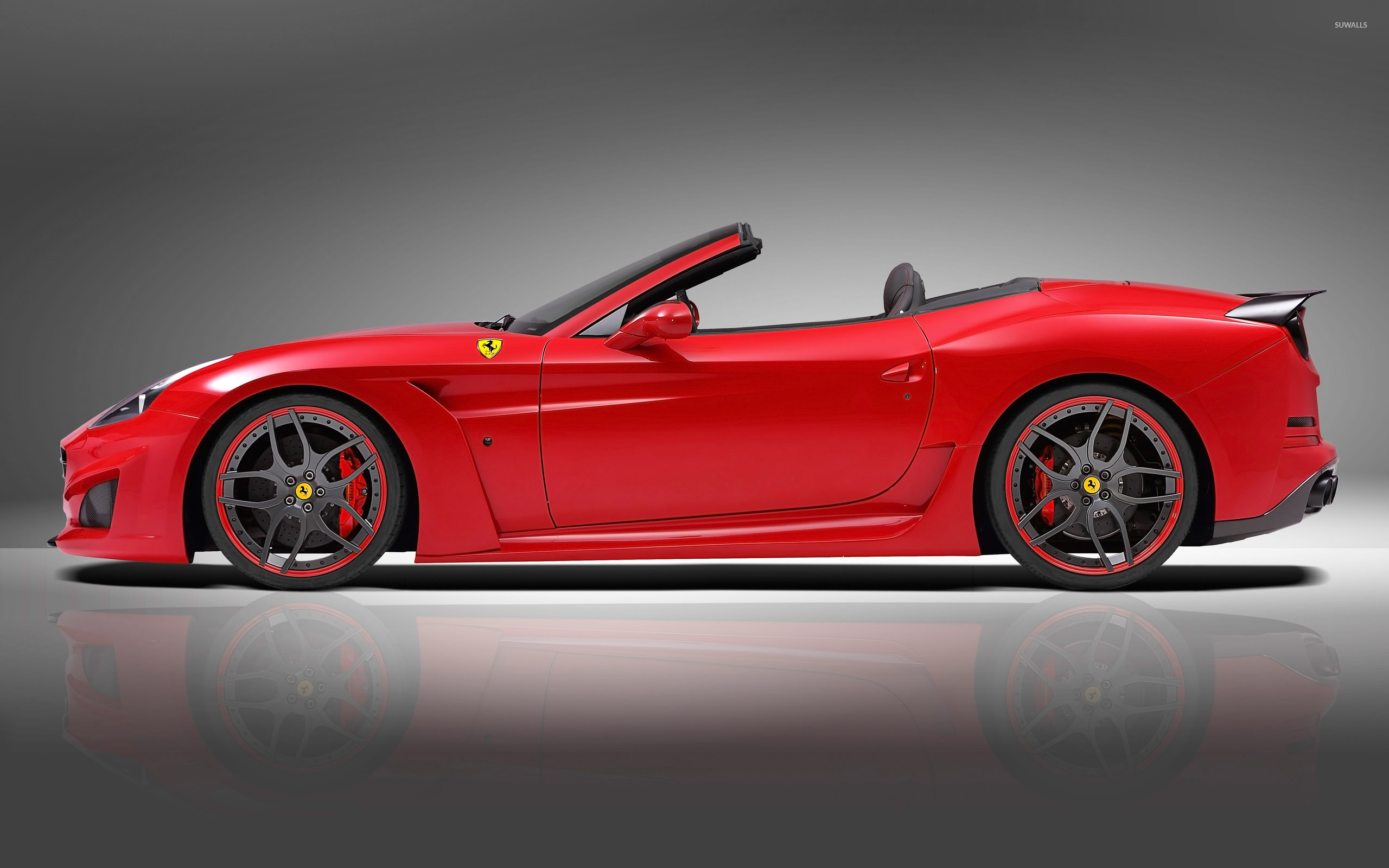 Mercedes Modified Cars Wallpapers 2015 Novitec Rosso Ferrari California Convertible Side