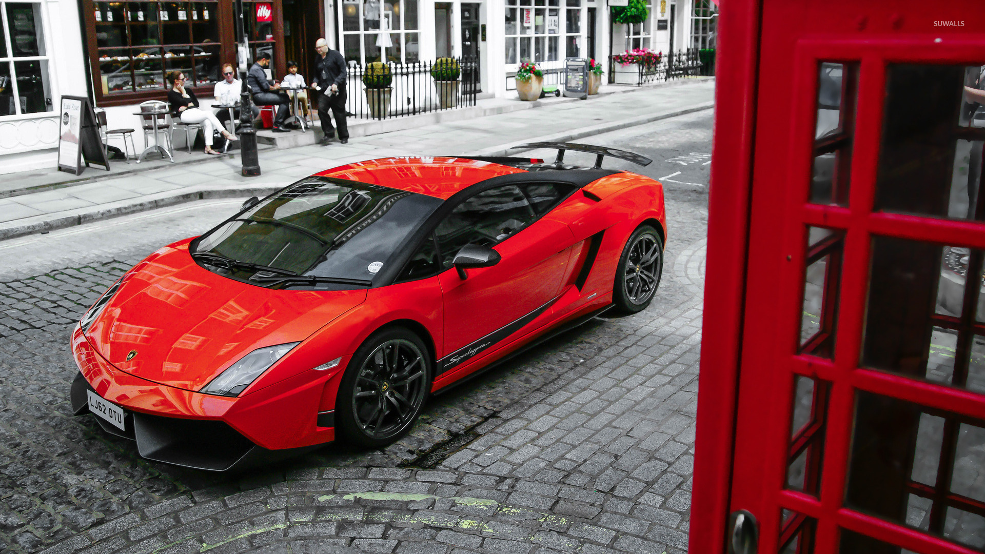 4k Wallpapers Exotic Super Sports Cars Red Lamborghini Gallardo Superleggera Top View Wallpaper