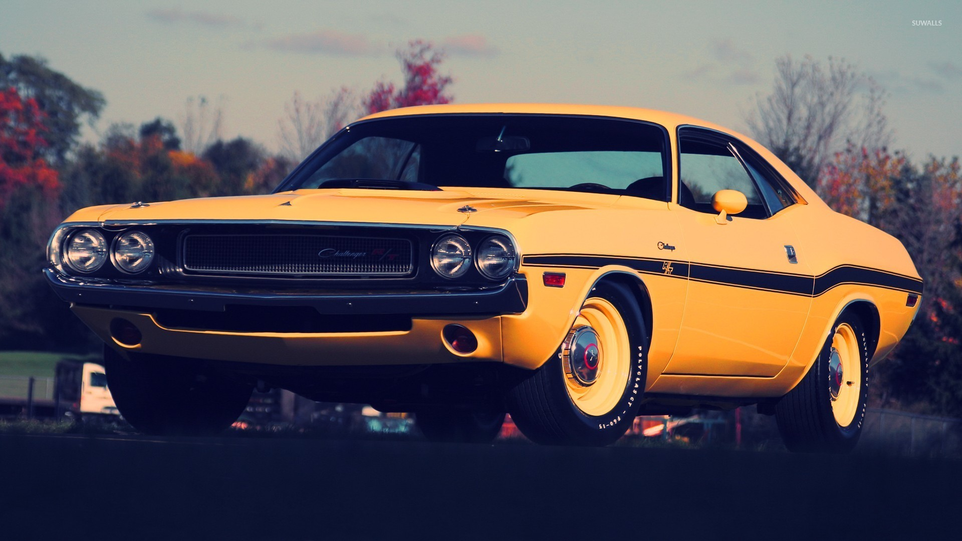 Dodge Challenger 1970 Wallpaper Yellow Dodge Challenger Front Side View Wallpaper Car Wallpapers