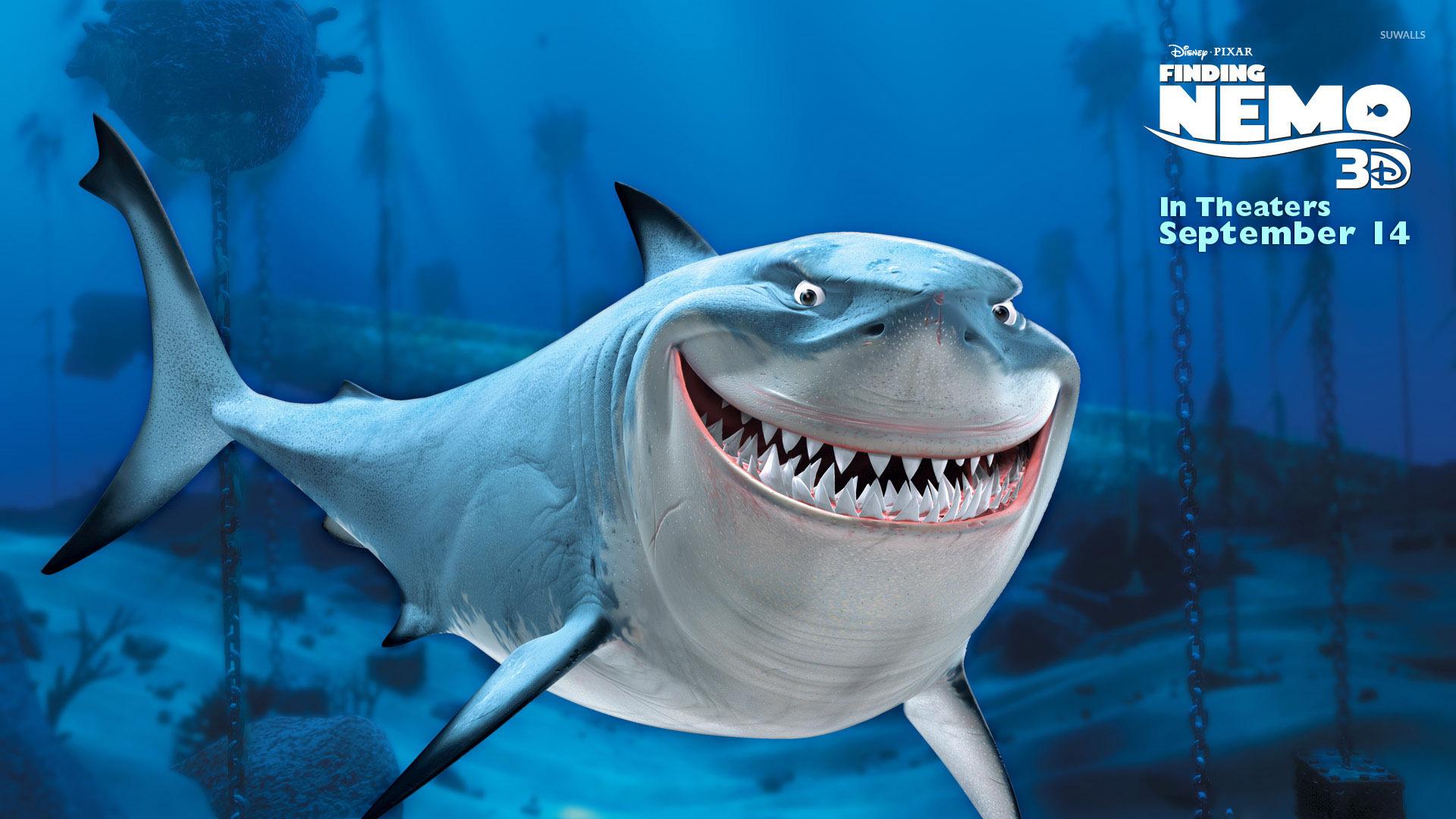 Hd Great White Shark Wallpaper Bruce From Finding Nemo Wallpaper Cartoon Wallpapers