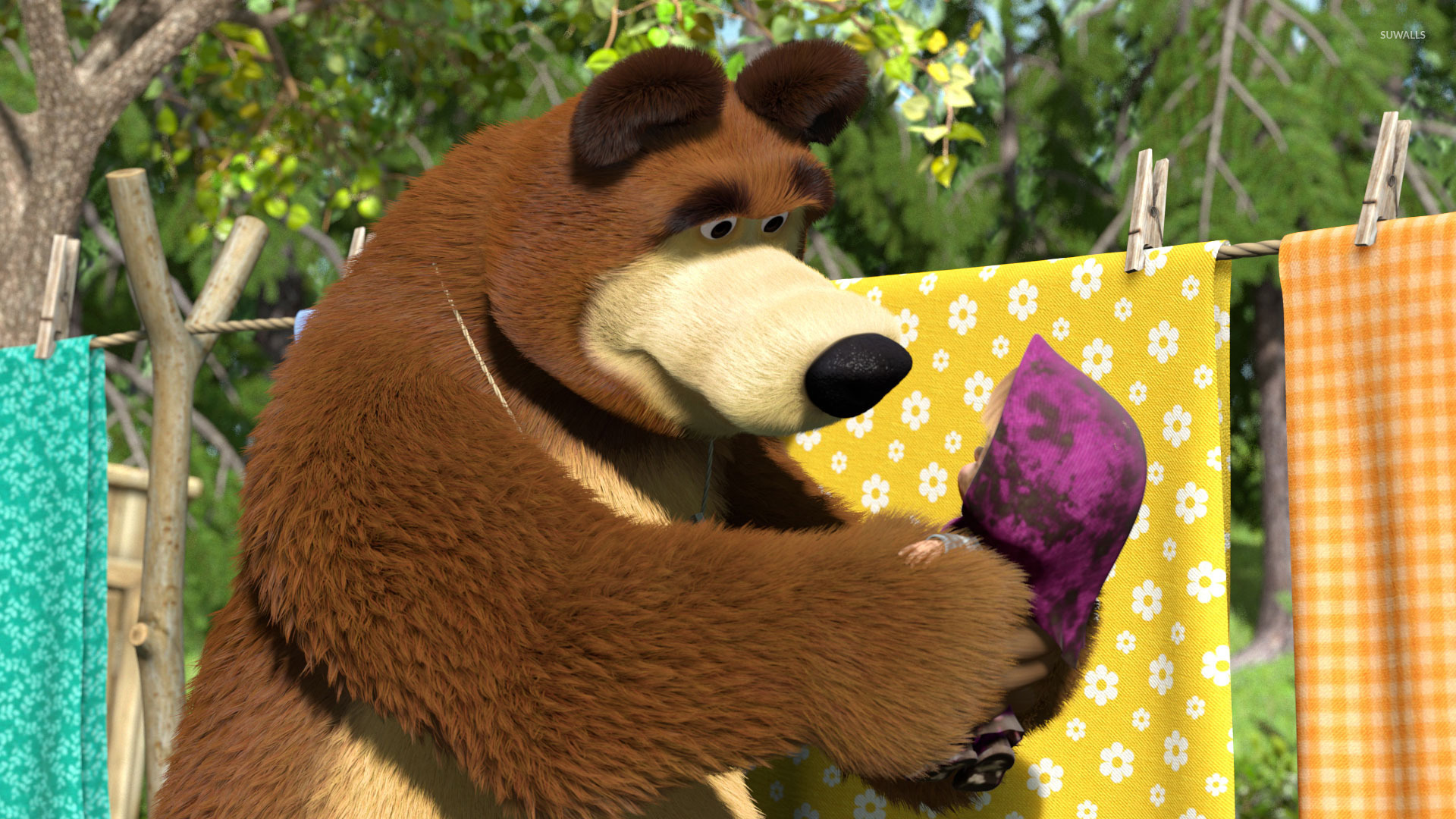 Cute Disney Wallpapers With Quotes Masha And The Bear 34 Wallpaper Cartoon Wallpapers