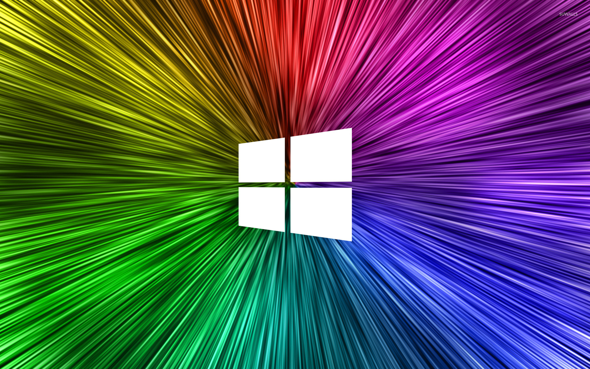 Free Computer Wallpaper Backgrounds For Fall Windows 10 Simple White Logo On Rainvow Rays Wallpaper