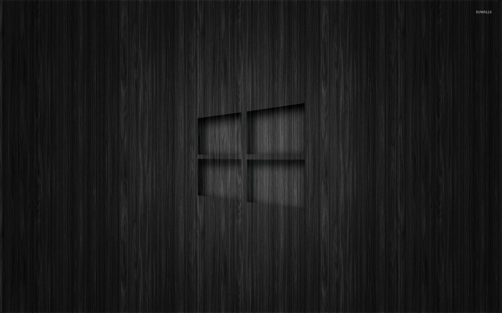 Fall Wooden Wallpaper Windows 10 Transparent Logo On Dark Wood Wallpaper