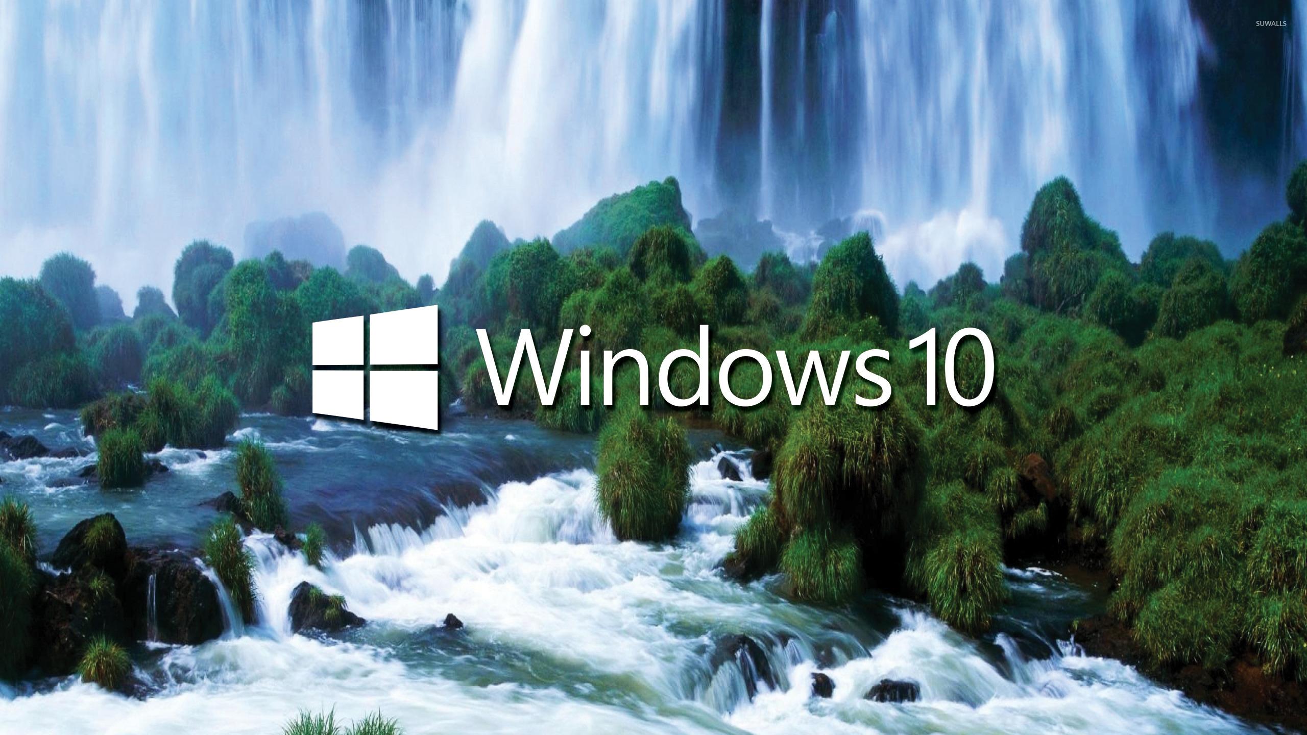 Iguazu Falls Wallpaper 1920x1200 Windows 10 White Text Logo By The Waterfall Wallpaper