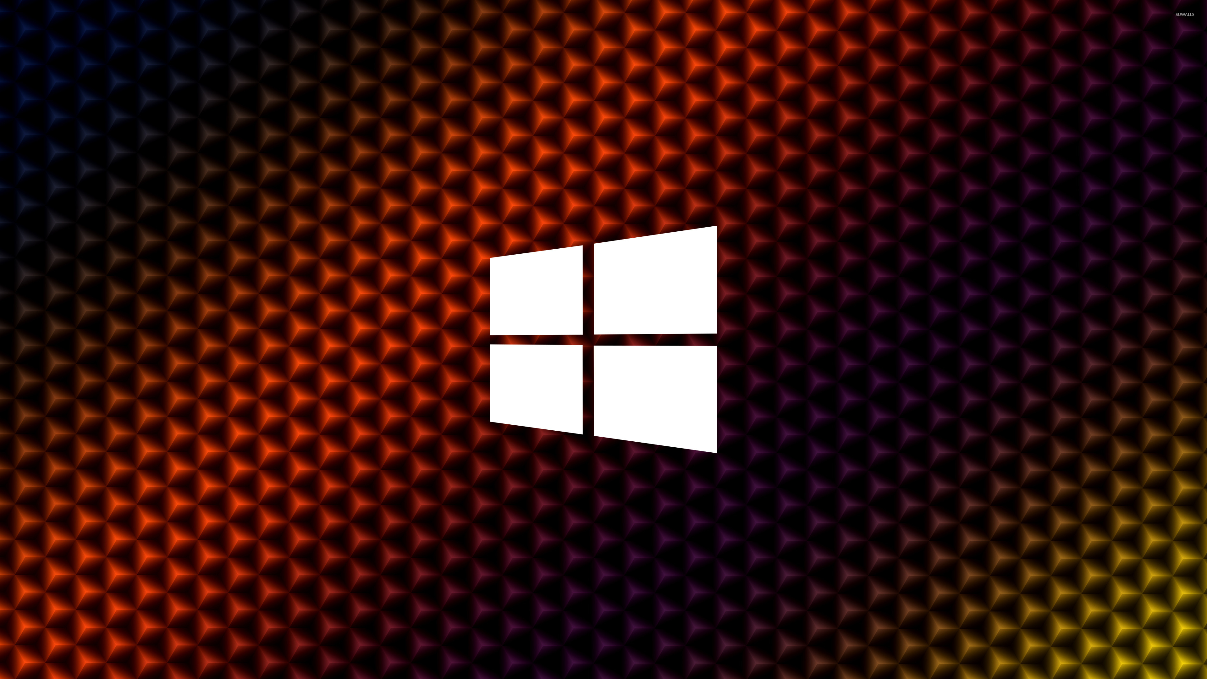 3d Cubes Home Wallpaper Windows 10 Simple White Logo On Colorful Cubes Wallpaper
