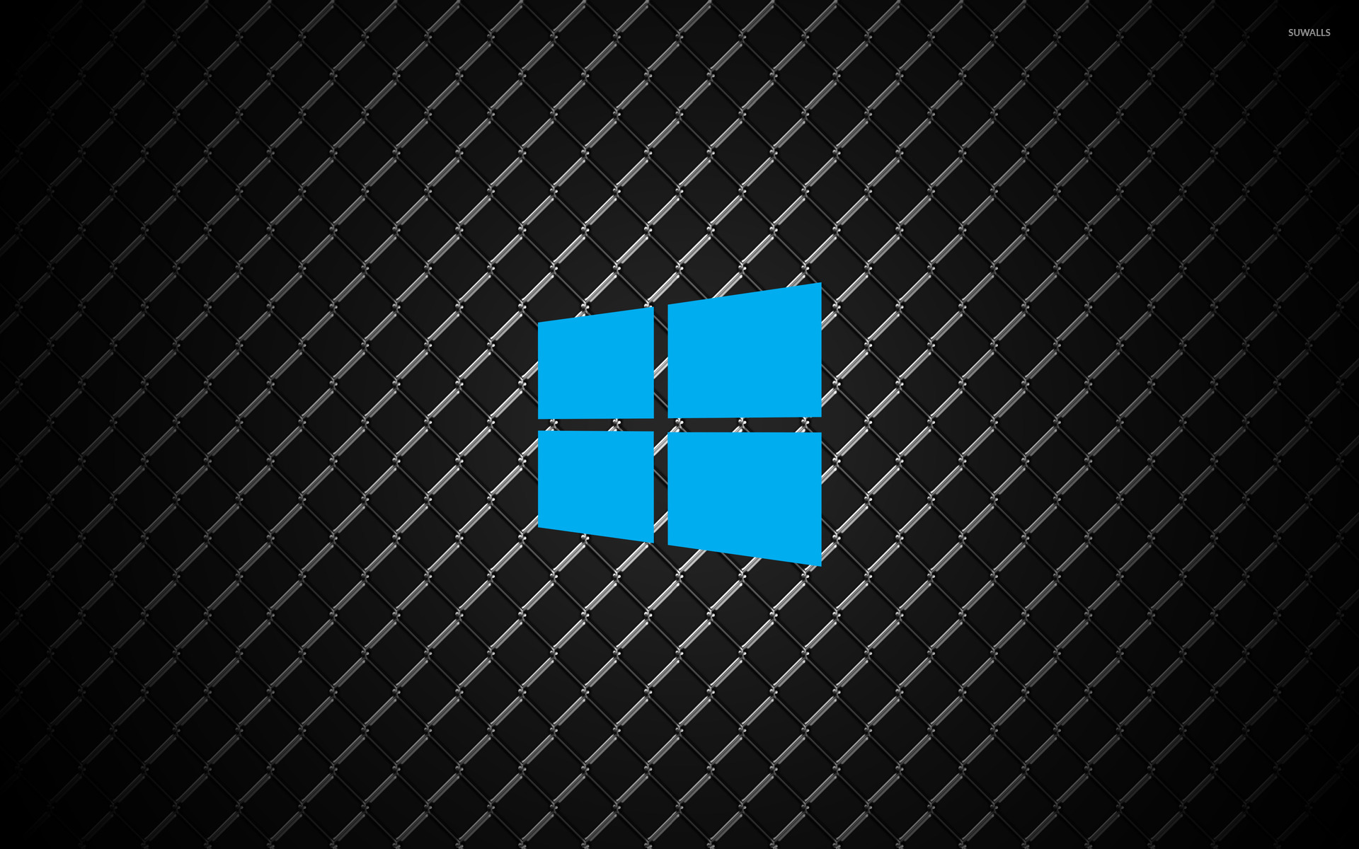 Autumn Leaf Fall Wallpaper Windows 10 Simple Blue Logo On Metal Wallpaper Computer