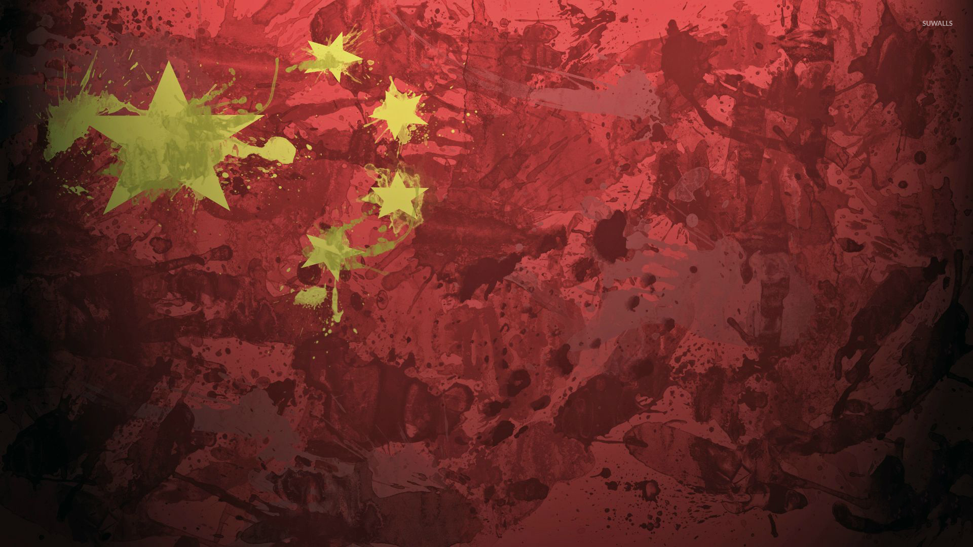 Game Of Thrones Quotes Wallpaper 1920x1080 China Flag With Paint Drops Wallpaper Digital Art