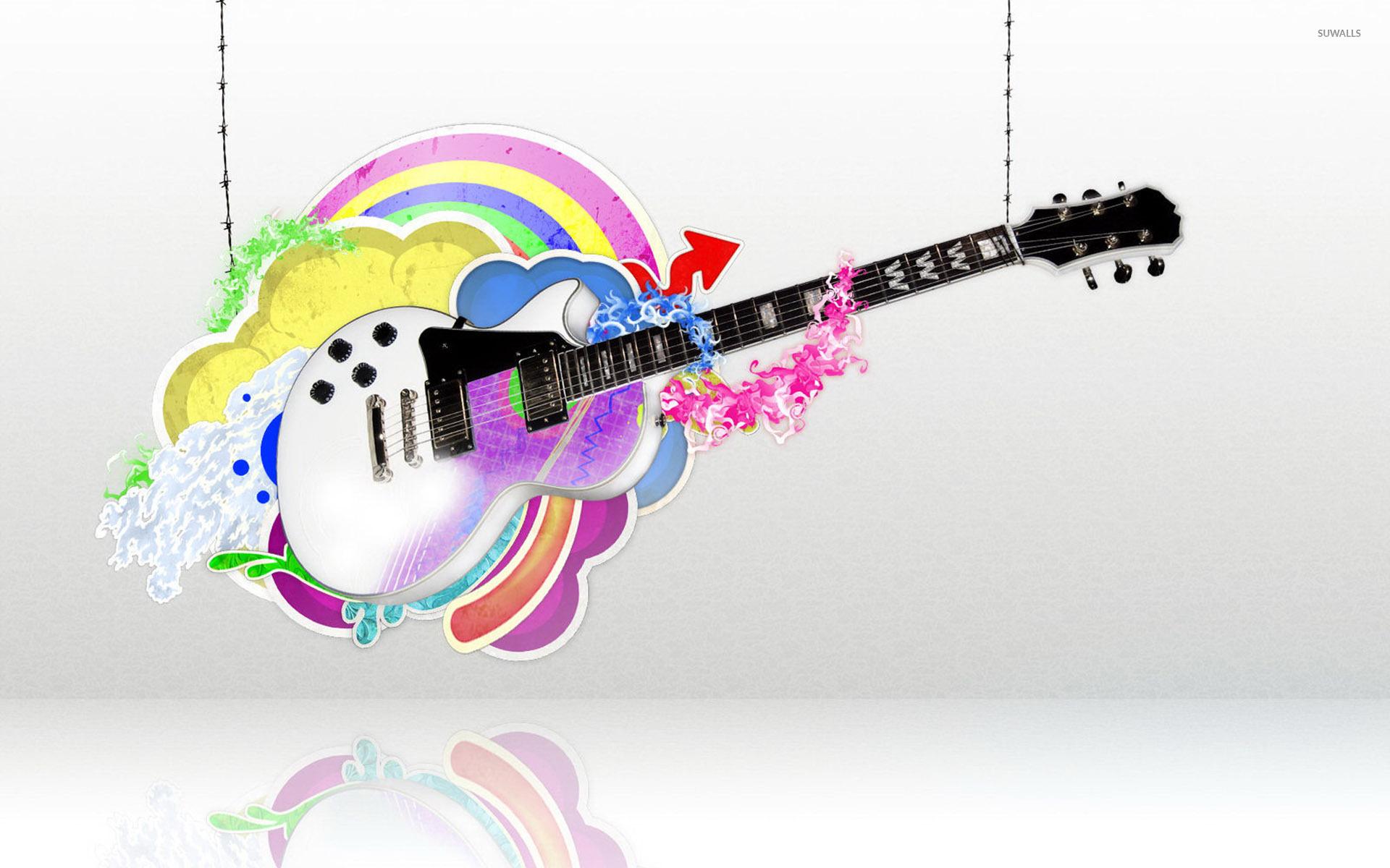 Strings Quotes Wallpaper Guitar Held By Strings Wallpaper Digital Art Wallpapers