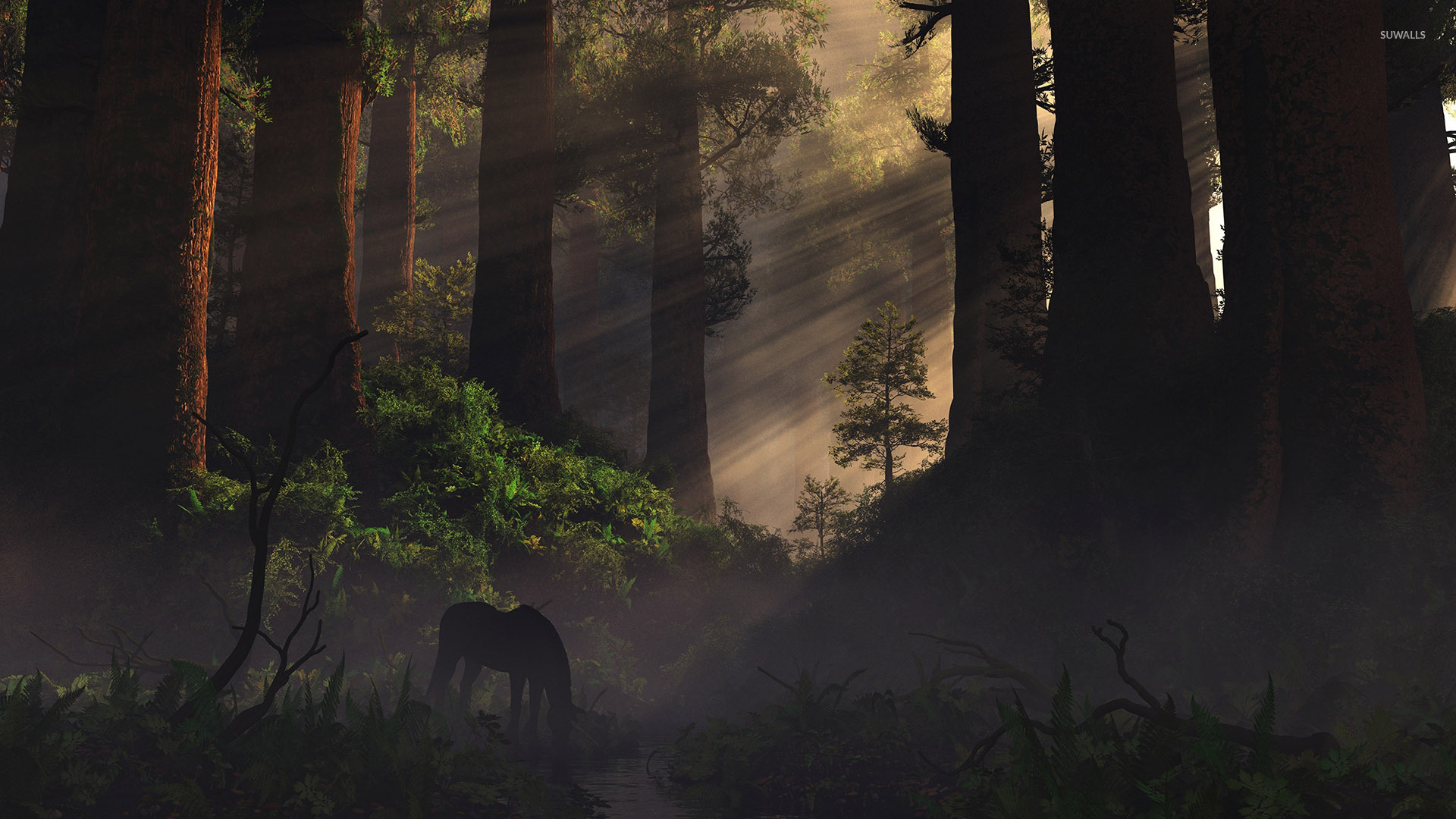 The Rock Quotes Wallpaper Hd Free Download Horse In The Forest Wallpaper Digital Art Wallpapers