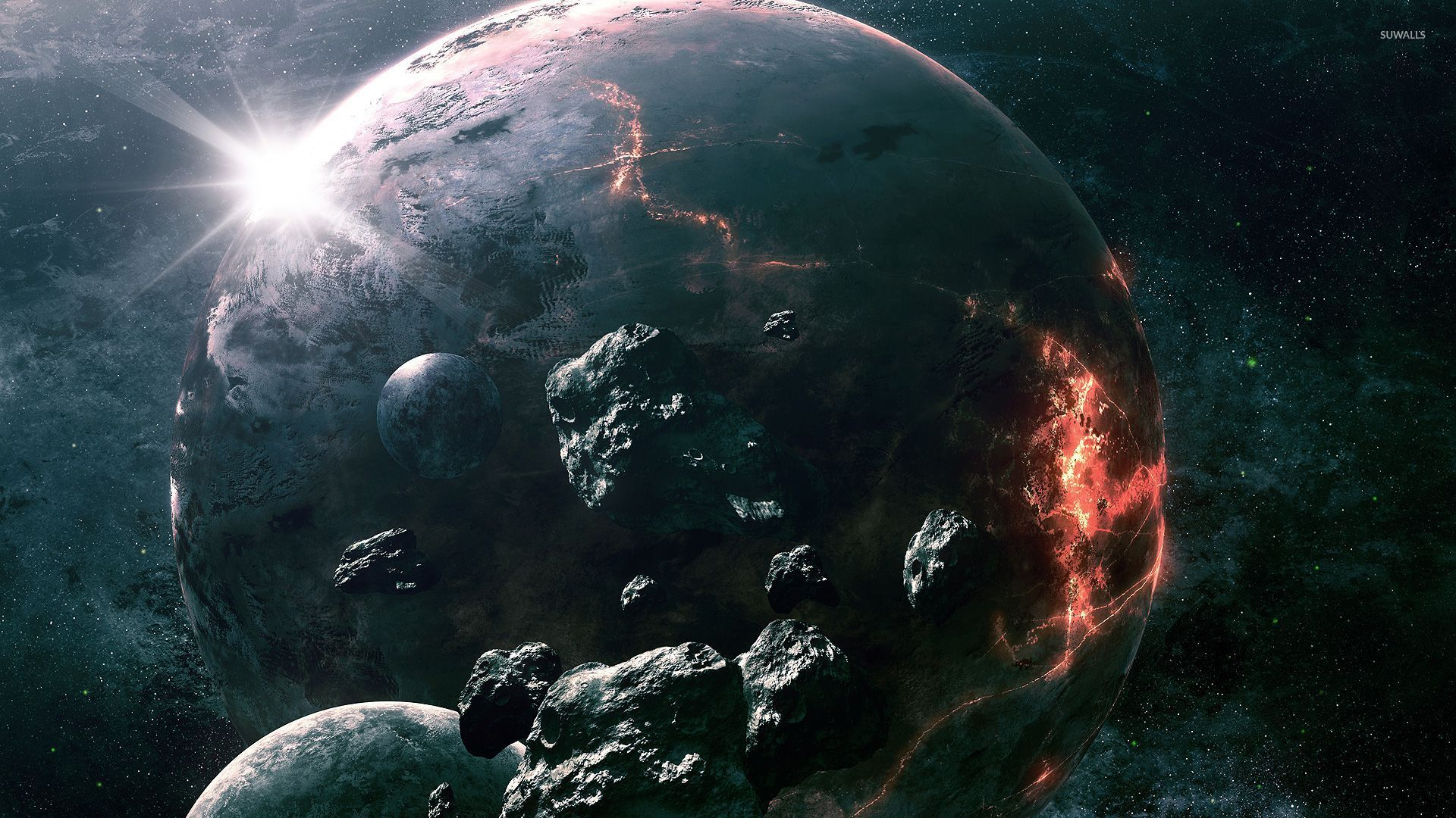 Boxing Ring Wallpaper Hd Meteorite Circling The Imploding Planet Wallpaper