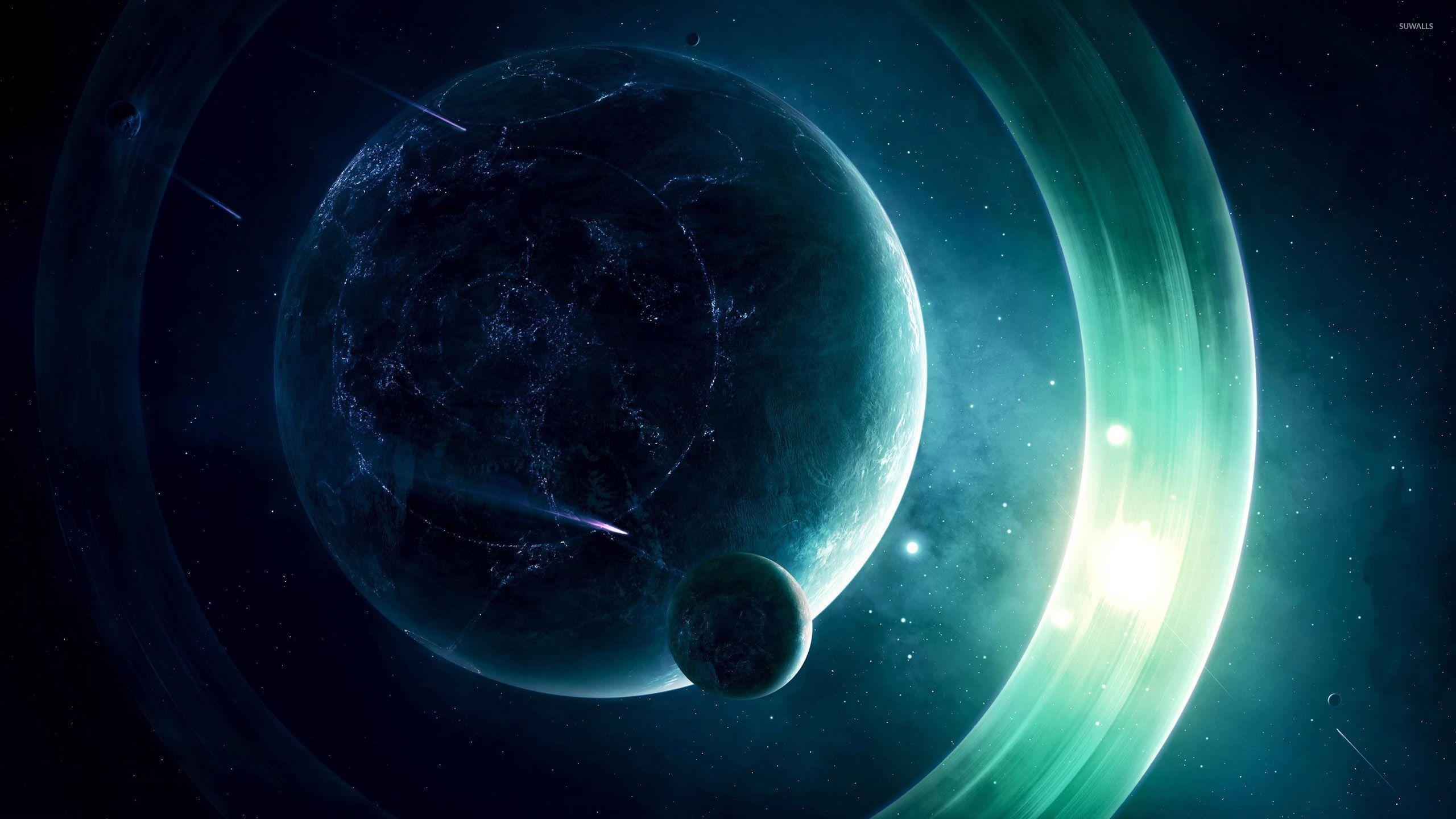 3d Galactic Wallpaper Planet Under Attack Wallpaper Fantasy Wallpapers 26753