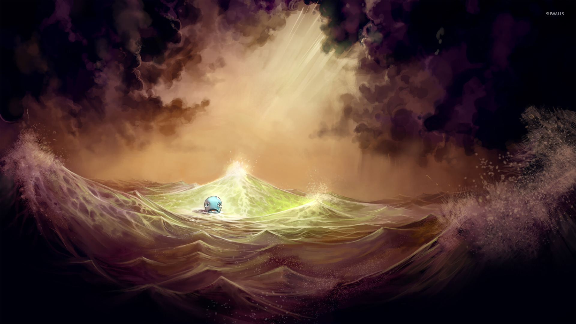 Sad Quotes Wallpapers For Desktop Sad Whale In The Storm Wallpaper Fantasy Wallpapers 22603