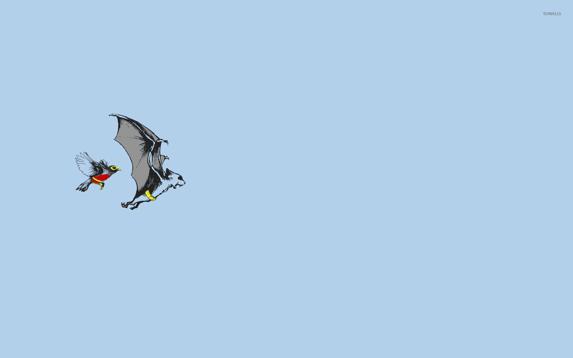 Cute Minimalistic Wallpapers Batman And Robin As Animals Wallpaper Funny Wallpapers