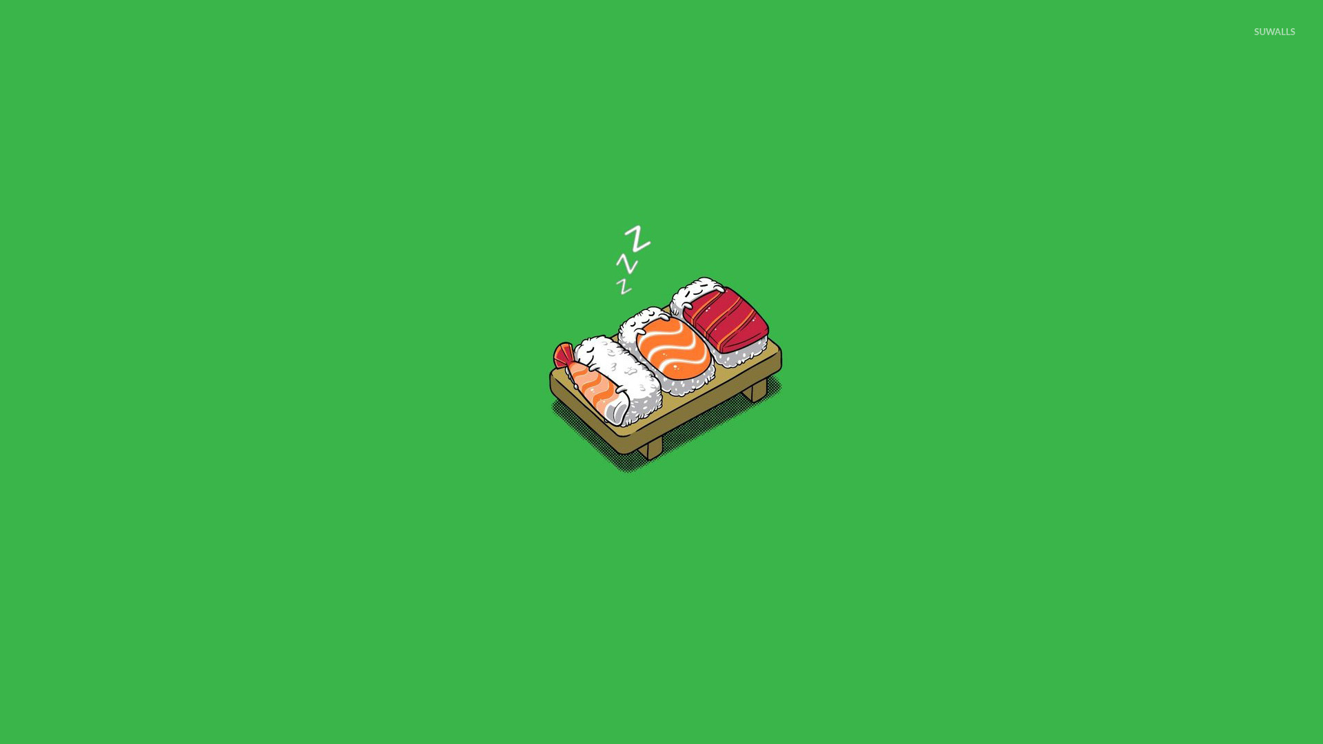 Wallpaper Cartoon Cute Bear Sleeping Sushi Wallpaper Funny Wallpapers 16469