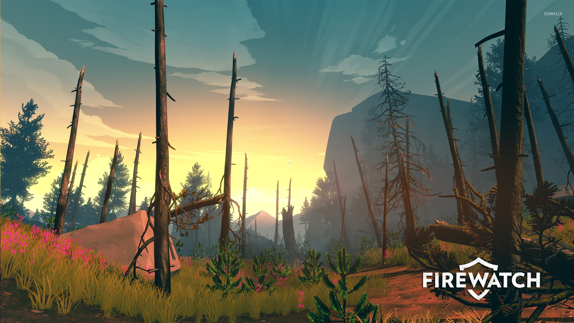 Star Wars Animated Wallpaper Burn Trees In Firewatch Wallpaper Game Wallpapers 49914