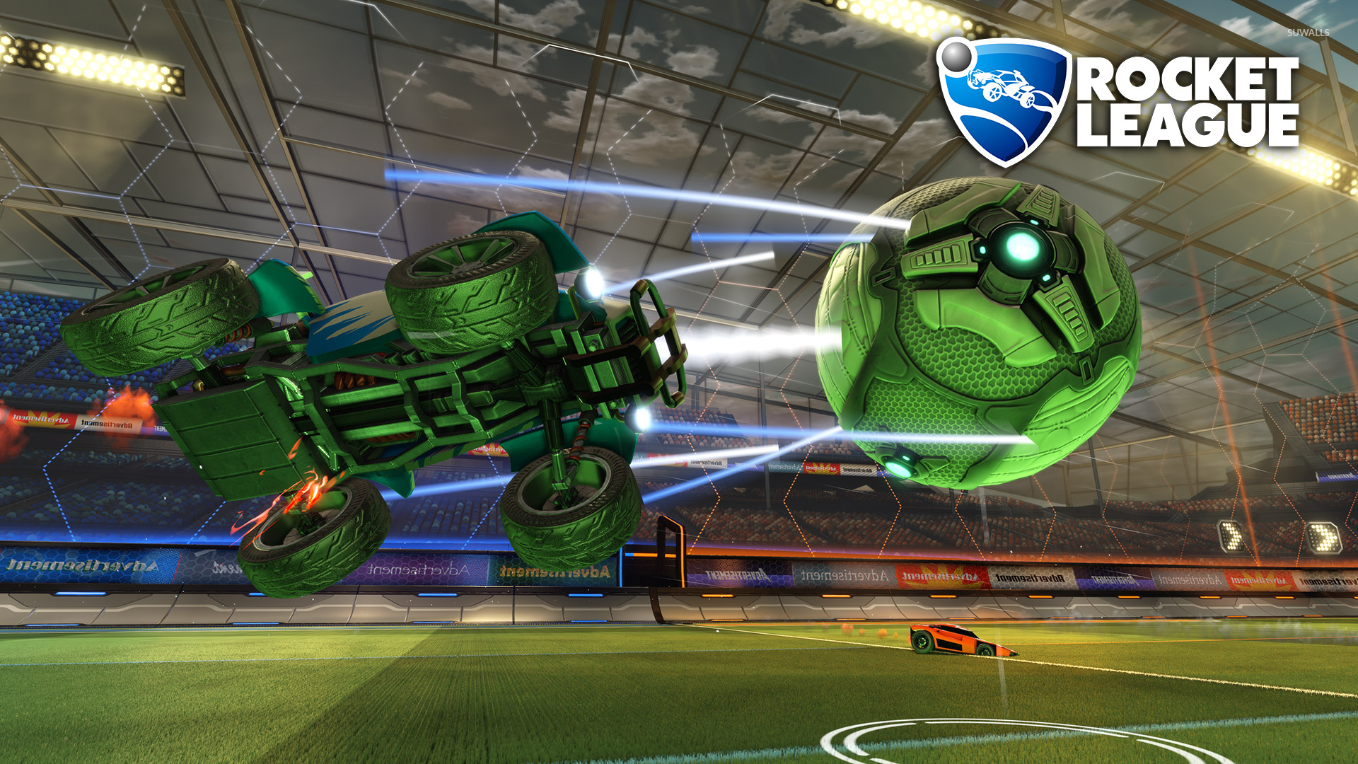 40k Quotes Wallpapers Green Car And Ball In Rocket League Wallpaper Game