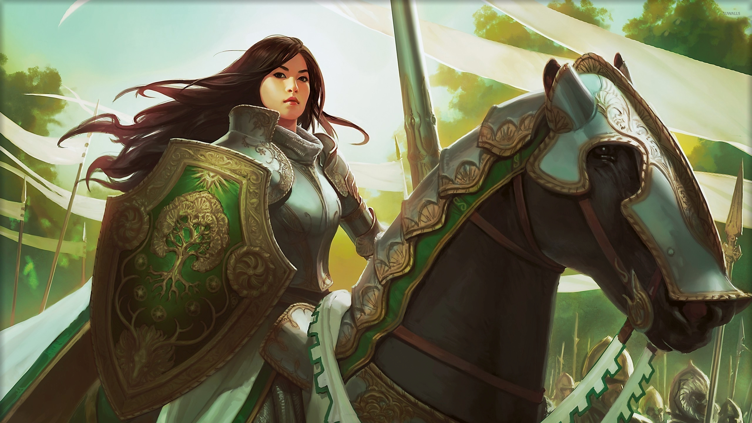 40k Quotes Wallpapers Knight Exemplar Magic The Gathering Wallpaper Game