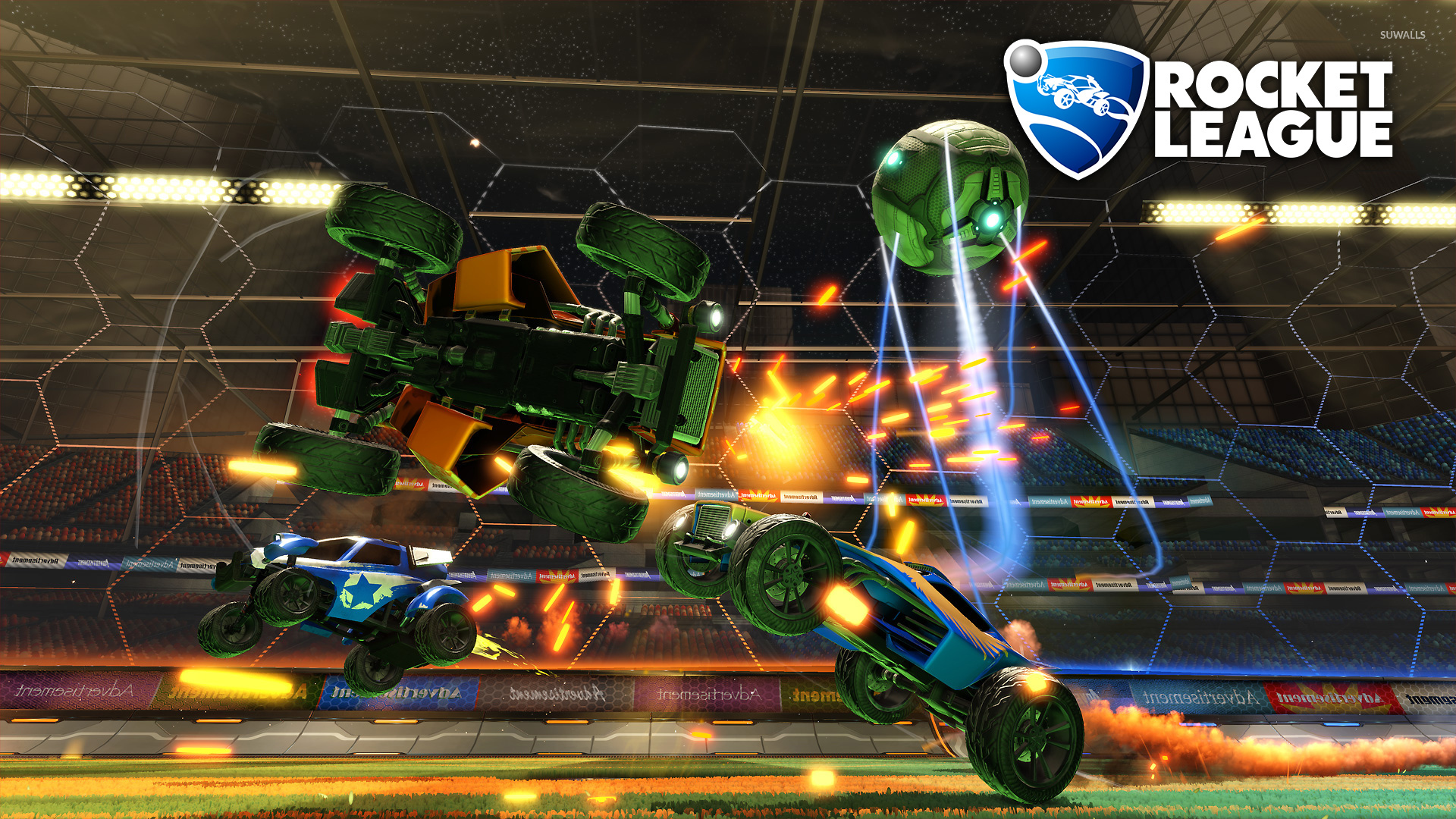 The Legend Of Zelda Wallpaper Hd Three Cars Chasing The Ball In Rocket League Wallpaper