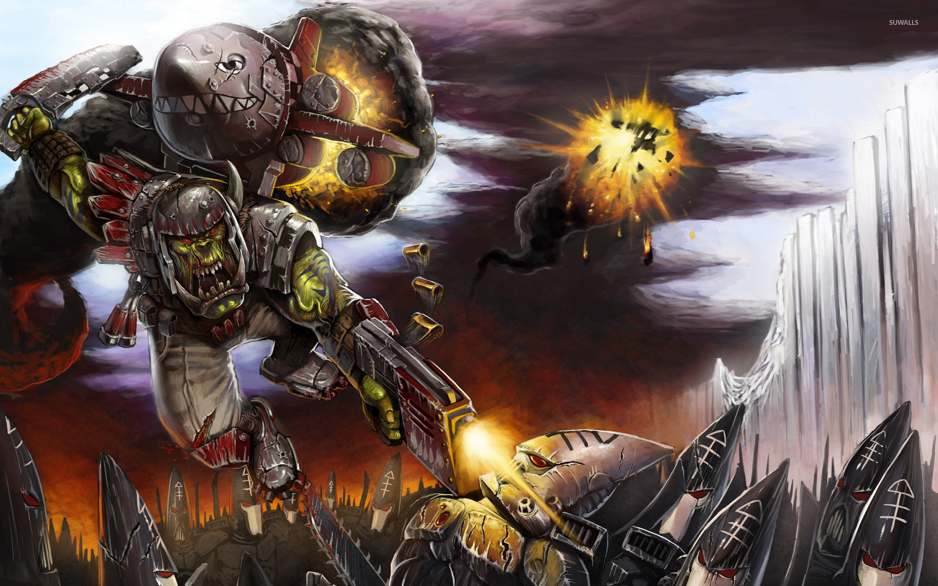 Desktop Wallpaper Fall Out Warhammer 40 000 Space Marine 7 Wallpaper Game