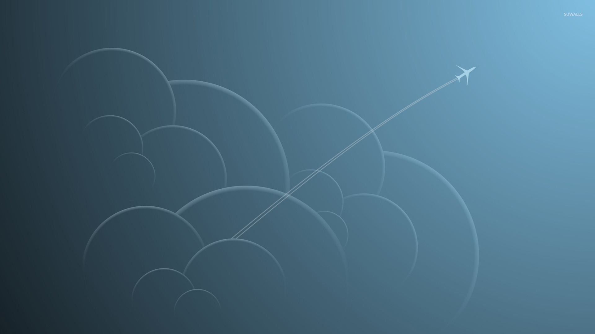 Goku Wallpaper Hd Airplane Through The Clouds Wallpaper Minimalistic