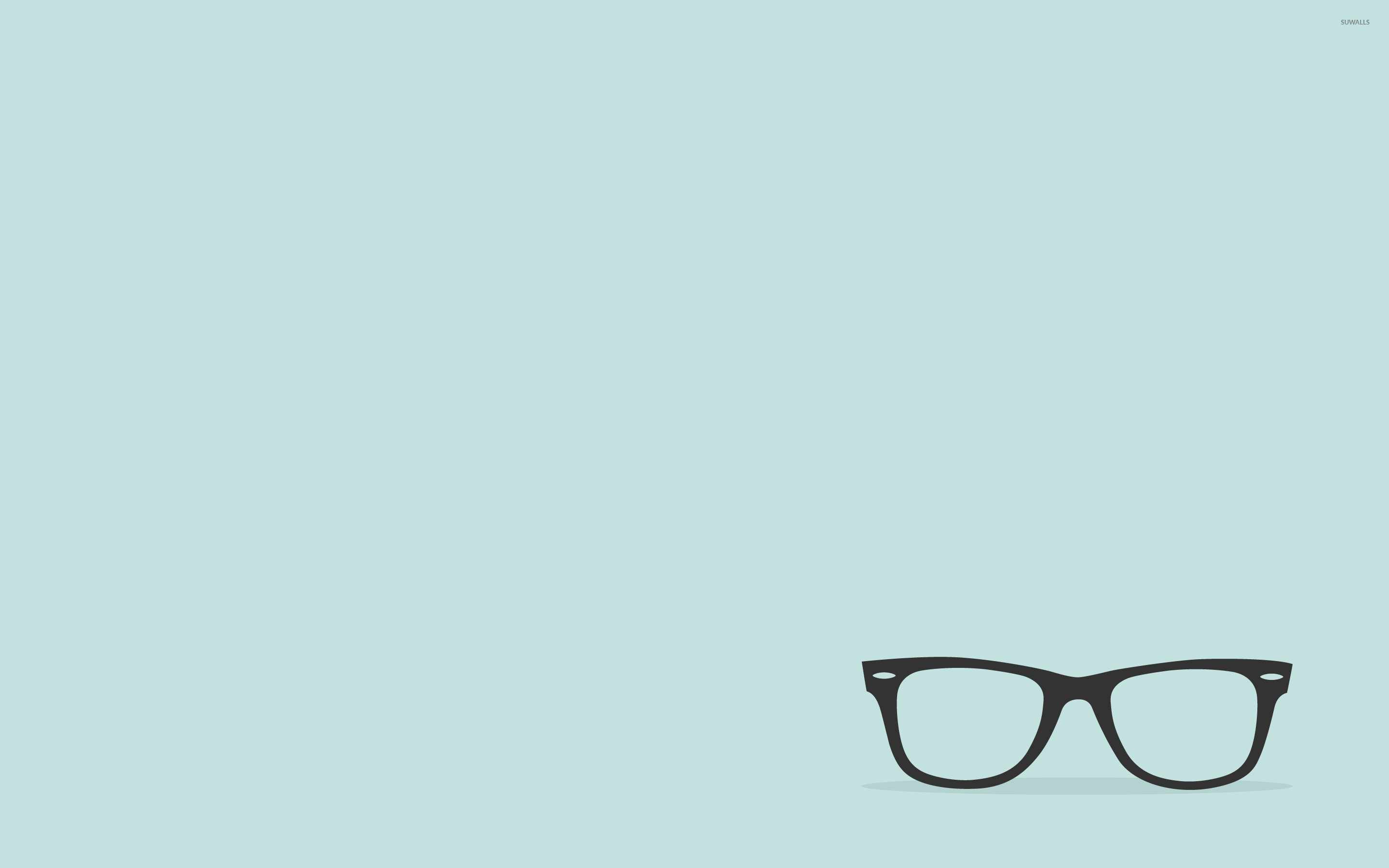 Cute Cat Wallpaper For Iphone Eyeglasses With Black Frames Wallpaper Minimalistic