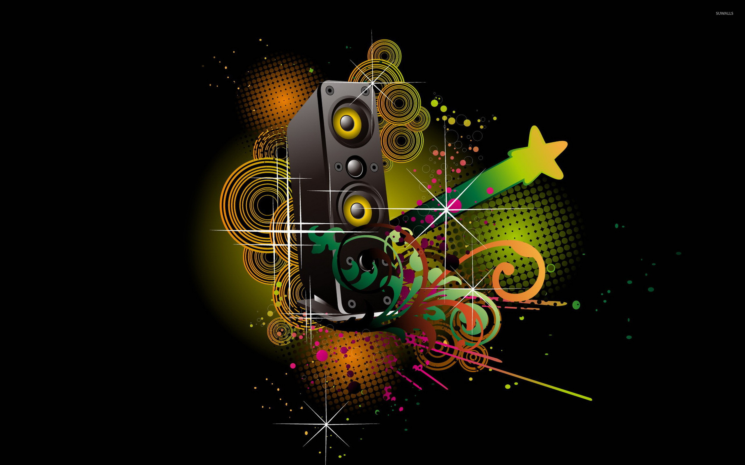 Cool Music Speakers Colorful Speaker Wallpaper Music Wallpapers 17310