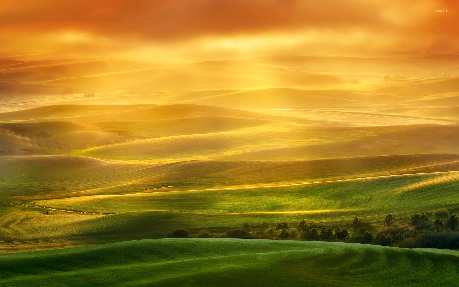 Fall Wallpaper For Desktop Free Colorful Fields Wallpaper Nature Wallpapers 23207