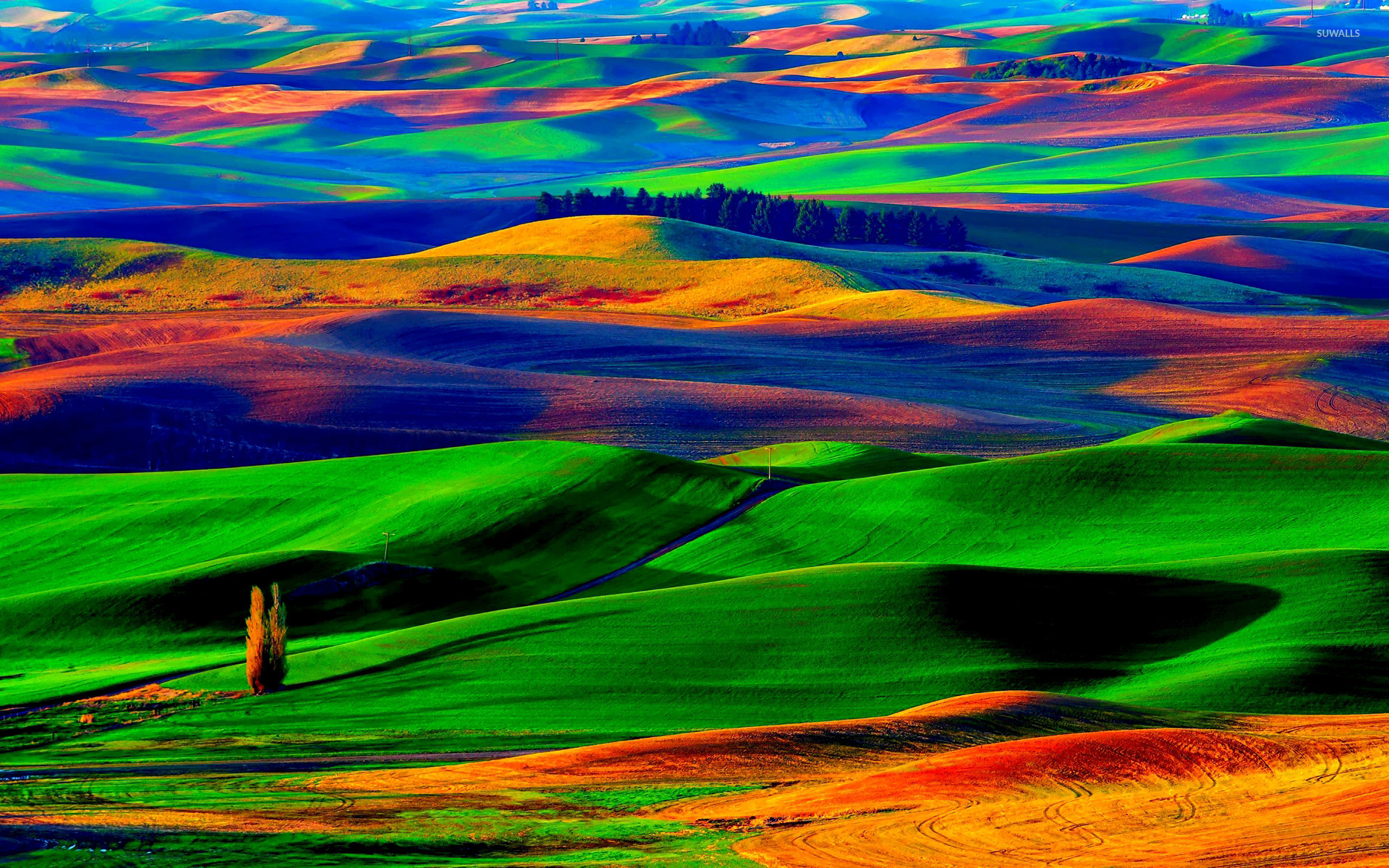Rolling Girls Wallpaper 1920 Colorfull Hills Wallpaper Nature Wallpapers 18676